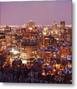 Montreal City Lights Metal Print by Pierre Leclerc Photography