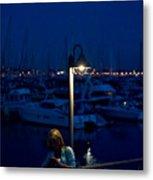 Moon Light Texting Metal Print by Tom Dowd