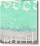 Moon Over The Sea Metal Print by Linda Woods