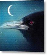Moon Raven Metal Print by Robert Foster