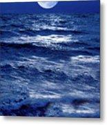 Moonlight Over The Ocean Metal Print by Christian Lagereek