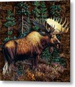 Moose Vignette Metal Print by JQ Licensing