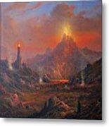 Mordor Land Of Shadow Metal Print by Joe Gilronan