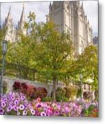 Mormon Temple Salt Lake City Metal Print by Utah Images