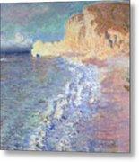 Morning At Etretat Metal Print by Claude Monet
