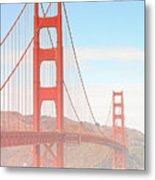 Morning Has Broken - Golden Gate Bridge San Francisco Metal Print by Christine Till