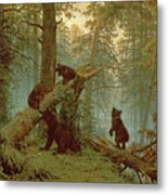 Morning In A Pine Forest Metal Print by Ivan Ivanovich Shishkin