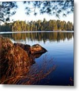 Morning On Chad Lake 2 Metal Print by Larry Ricker