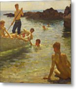 Morning Splendour Metal Print by Henry Scott Tuke