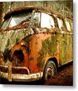 Moss Covered 23 Window Bus Metal Print by Michael David Sorensen