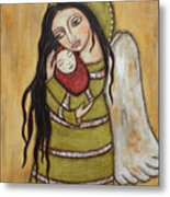 Mother And Child Metal Print by Rain Ririn