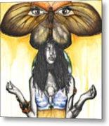 Mother Nature Ix Metal Print by Anthony Burks Sr
