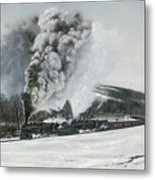 Mount Carmel Eruption Metal Print by David Mittner