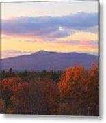Mount Monadnock Autumn Sunset Metal Print by John Burk