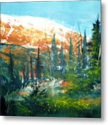 Mountain Light Metal Print by Robert Carver