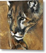 Mountain Lion - Guardian Of The North Metal Print by J W Baker