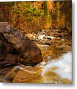 Mountain Stream In Autumn Metal Print by Utah Images