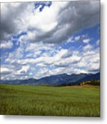 Mountainfarm Metal Print by Mark Smith