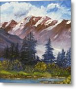 Mountains I Metal Print by Lessandra Grimley