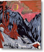 Mountains In Winter Metal Print by Ernst Ludwig Kirchner