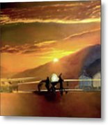 Mq-1 Predator Titled Anytime Anyplace Metal Print by Todd Krasovetz
