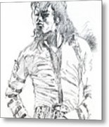 Mr. Jackson Metal Print by David Lloyd Glover