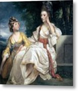 Mrs Thrale And Her Daughter Hester Metal Print by Sir Joshua Reynolds