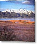 Mt. Timpanogos And Utah Lake Metal Print by Utah Images
