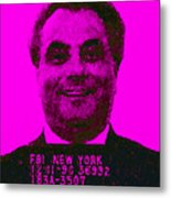 Mugshot John Gotti M88 Metal Print by Wingsdomain Art and Photography