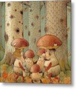 Mushrooms Metal Print by Kestutis Kasparavicius