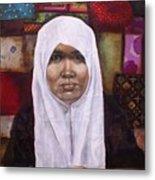 Muslim Woman Metal Print by Ixchel Amor