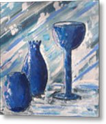 My Blue Vases Metal Print by J R Seymour