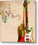My Guitar Can Sing Metal Print by Nikki Smith