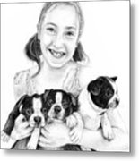 My Puppies Metal Print by Mike Ivey