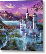 Mystery Castle Metal Print by David Lloyd Glover
