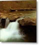 Mystical King River Falls Metal Print by Iris Greenwell