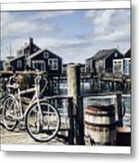 Nantucket Bikes 1 Metal Print by Tammy Wetzel