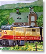 Napa Wine Train Metal Print by Gail Chandler