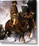 Napoleon Crossing The Alps Metal Print by Hippolyte Delaroche