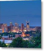 Nashville By Night 1 Metal Print by Douglas Barnett