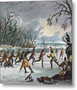 Native Americans: Ball Play, 1855 Metal Print by Granger
