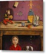 Naughty Child Metal Print by Leah Saulnier The Painting Maniac