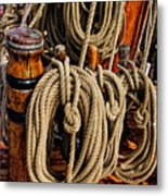 Nautical Knots 17 Oil Metal Print by Mark Myhaver