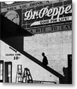 Negro Going In Colored Entrance Metal Print by Everett