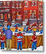 Neighborhood  Hockey Rink Metal Print by Carole Spandau