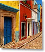 Neighbors Of The Yellow House Metal Print by Mexicolors Art Photography