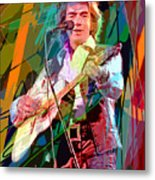 Neil Diamond Hot August Night Metal Print by David Lloyd Glover