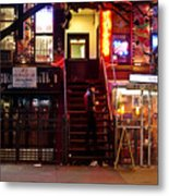 Neon Lights - New York City At Night Metal Print by Vivienne Gucwa