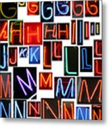neon series G through N Metal Print by Michael Ledray