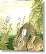 Nesting Bunnies Metal Print by Patricia Pushaw